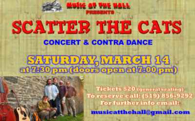 Scatter The Cats – Concert & Contra Dance, March 14th