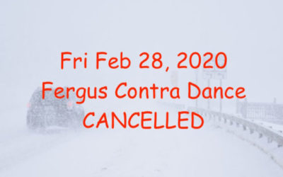 Contra Dance Cancelled Due to Weather