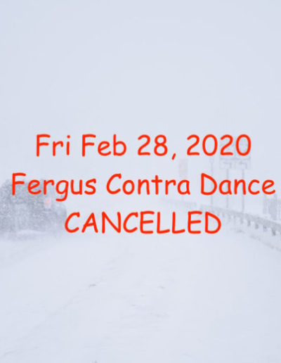 FEB 28 Dance Cancelled